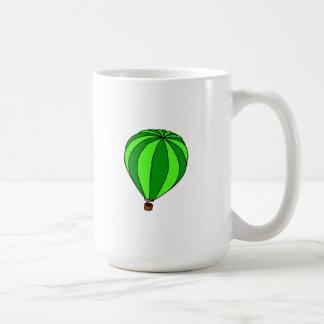 Green Hot Air Ballon Cartoon Mugs