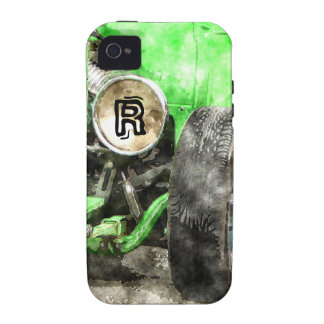 Green Hotrod Vintage Classic Car Painted Style iPhone 4/4S Cover
