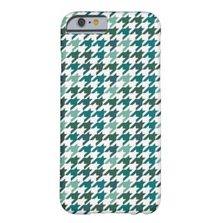 green Houndstooth Pattern Barely There iPhone 6 Case