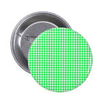 Green Houndstooth Pattern Pin