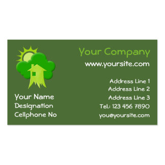 Green House Pack Of Standard Business Cards