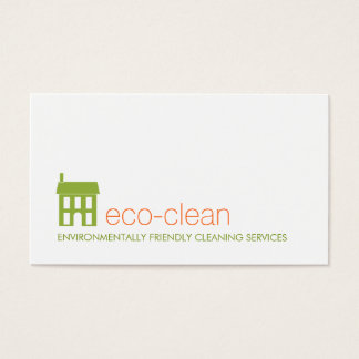 Green House Logo Natural Cleaning Services