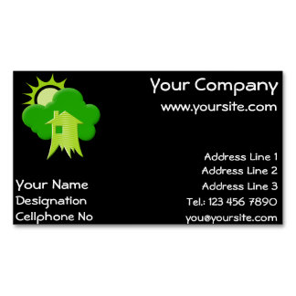 Green House Magnetic Business Cards