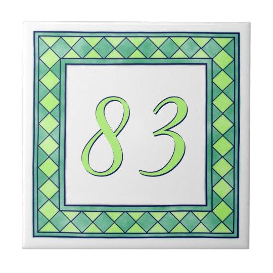 Green House Number Tile
