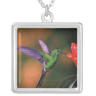 Green Hummingbird Silver Pendant
