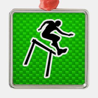 Green Hurdler Christmas Ornament