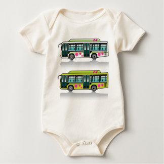 Green Hybrid Bus vector Baby Creeper