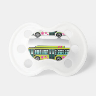 Green Hybrid Bus vector Pacifiers
