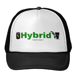 Green HYBRID pump and battery Trucker Hats