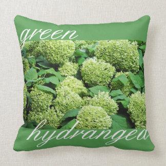 Green hydrangea cushion