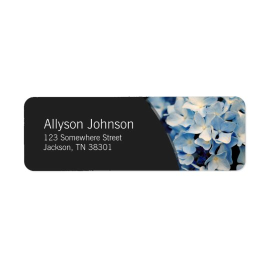 Green & Hydrangea Flower Address Labels