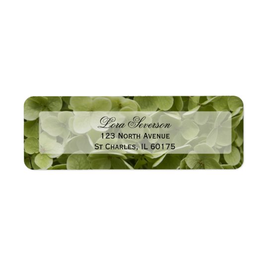 Green Hydrangea Flower Return Address Return Address Label