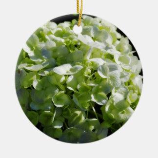Green Hydrangeas Flowers Christmas Ornament