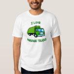 green I love garbage trucks Shirts