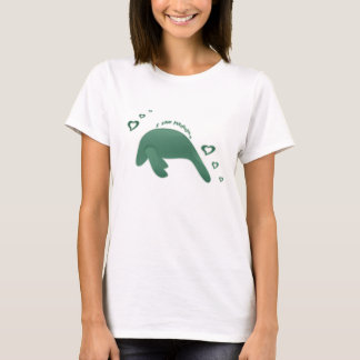 Green I Love Manatees T-Shirt