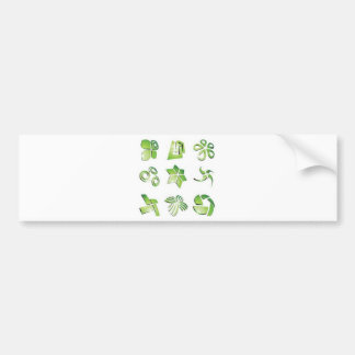 Green icon elements bumper stickers