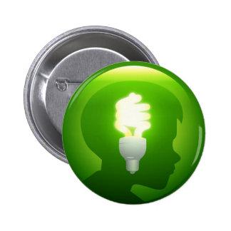 Green Idea 6 Cm Round Badge