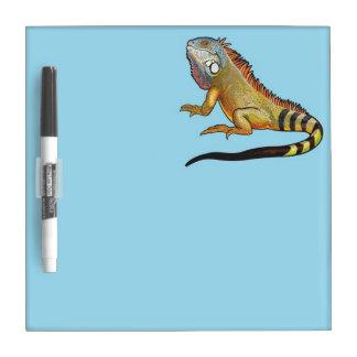 green iguana dry erase board