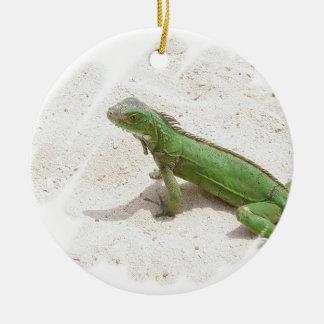 Green Iguana Lizard Ornament
