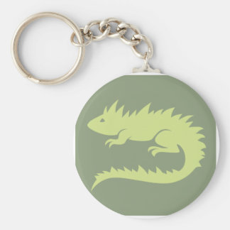 Green Iguana Reptile Icon Keychains