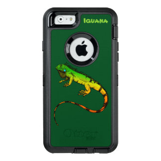 Green Iguana Reptile OtterBox Defender iPhone Case