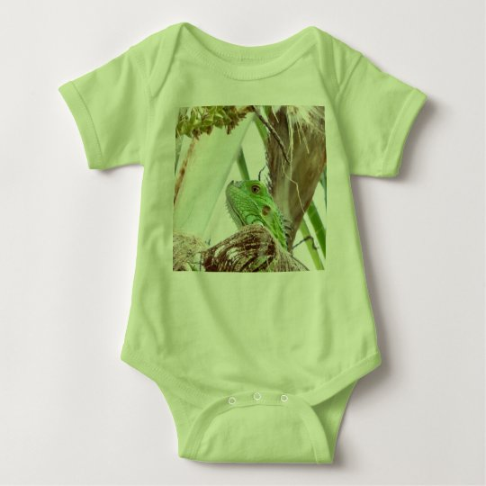 Green Iguana Up Close Body Suit Baby Bodysuit