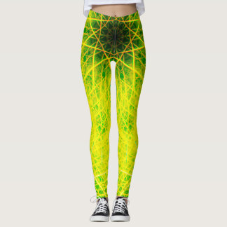 Green Illusion Leggings