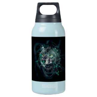 Green indian wolf insulated water bottle