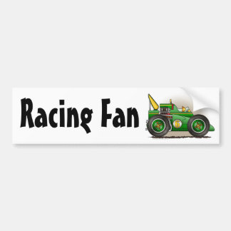 Green Indy Race Car Racing Fan Bumper Sticker Car Bumper Sticker