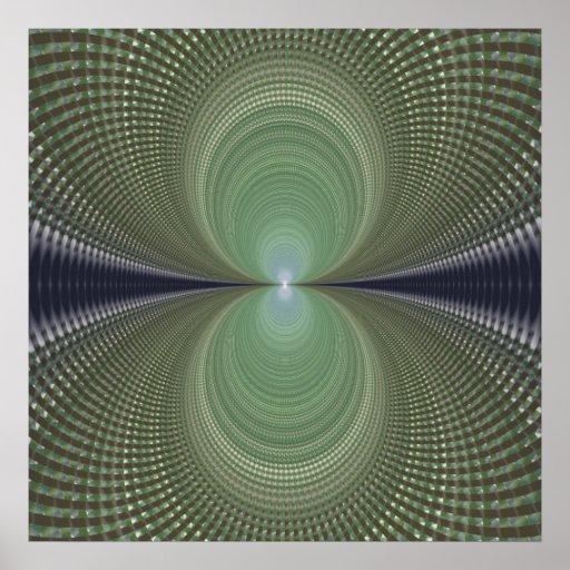 Green Infinity Fractal Poster Print