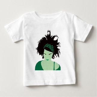 Green Insane Girl T Shirt