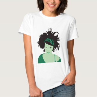 Green Insane Girl Tee Shirt