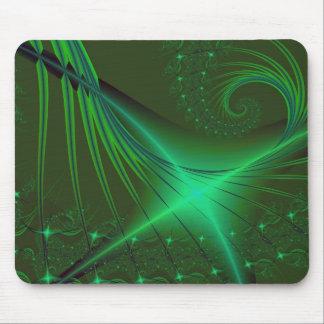 Green Interrumpted Mouse Mat