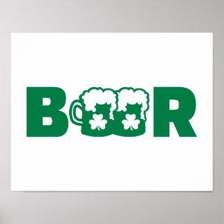 Green irish beer posters