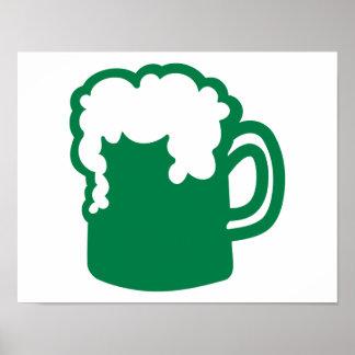 Green irish beer print
