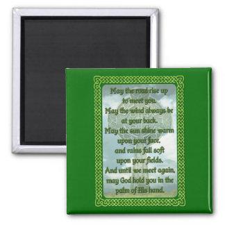 Green Irish Blessing Magnet