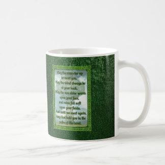 Green Irish Blessing Basic White Mug