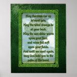 Green Irish Blessing Poster