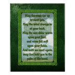 Green Irish Blessing Print