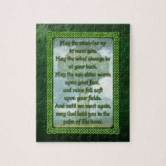 Green Irish Blessing Puzzle