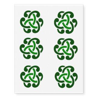Green Irish Celtic Knot Tattoos