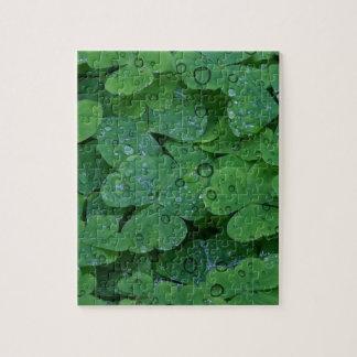 Green Irish Clover Jigsaw Puzzles