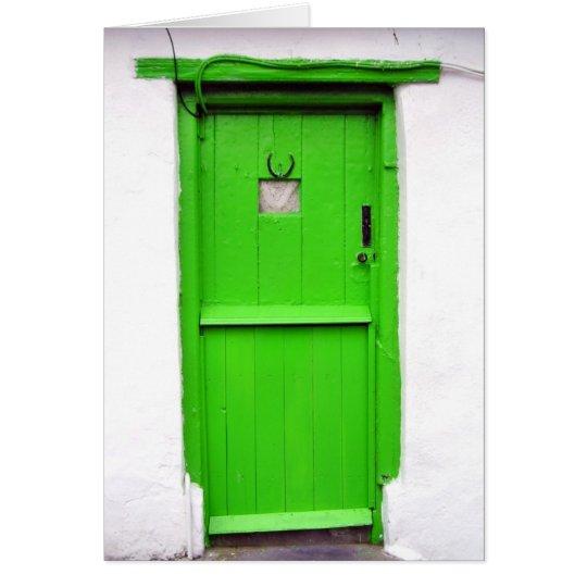 Green Irish Door Card