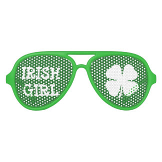 Green Irish Girl St Patricks Day party shades