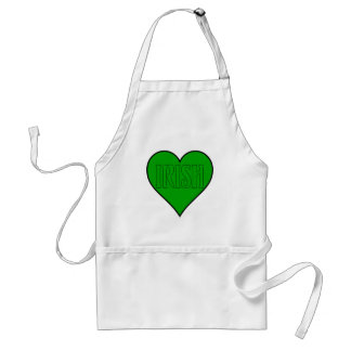 green irish heart apron