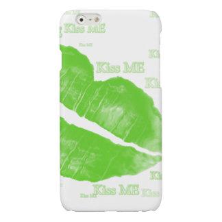 Green Irish Lips - Kiss Me Typography iPhone 6 Plus Case