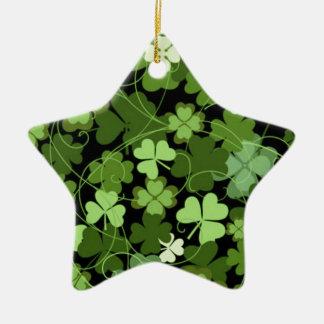 Green Irish Shamrock Christmas Ornament