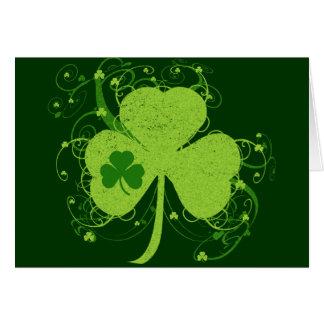 Green Irish Shamrock Greeting Card