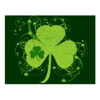 Green Irish Shamrock Post Cards