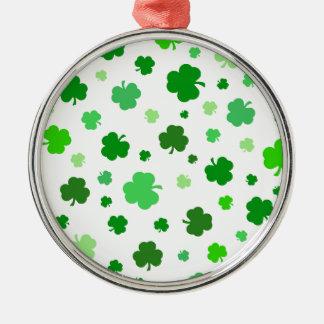Green Irish Shamrocks Christmas Ornament